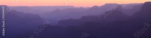 Obraz na plátně Grand Canyon Sunset Silhouette Panorama