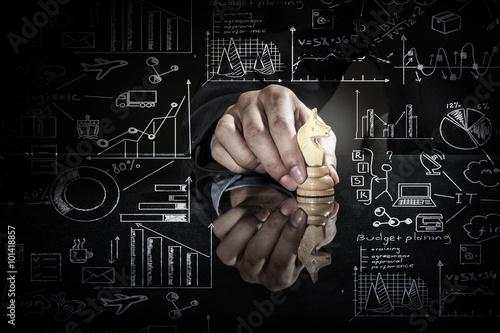 Obraz na plátně Vedení strategie podnikání