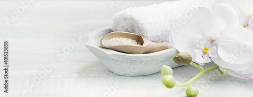 Spa still life with bath salt