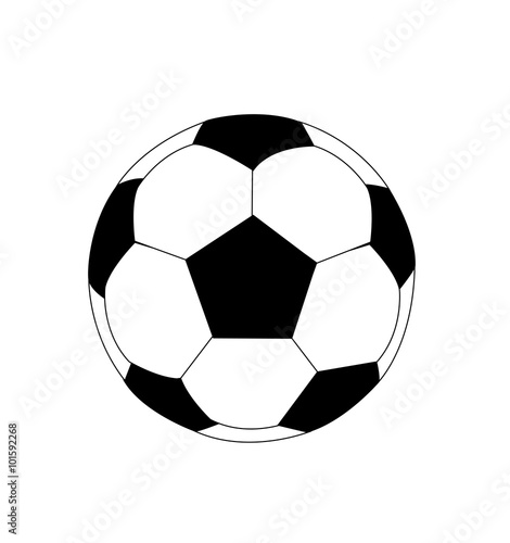 Canvas Print high quality isolated soccer ball