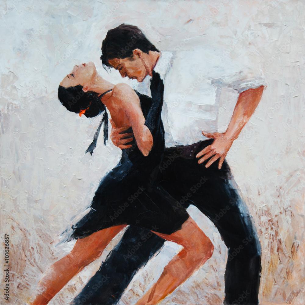 tancerze tanga, malarstwo cyfrowe, tancerze tanga <span>plik: #101626857 | autor: pavlogatilov</span>