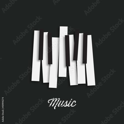 Obraz na plátně Jazz music festival, poster background template