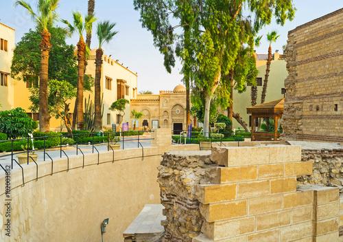 Tableau sur Toile The ancient ruins in Coptic quarter