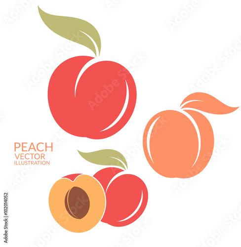 Canvas Print Peach. Set