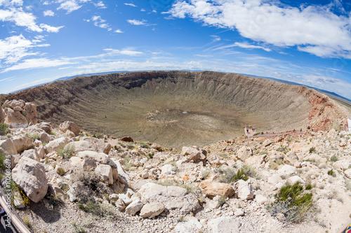 Fotografia View of the Meteor Crater, Flagstaff, Arizona