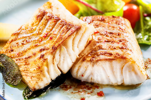 Stampa su Tela Two delicious fillets of marinated pollock