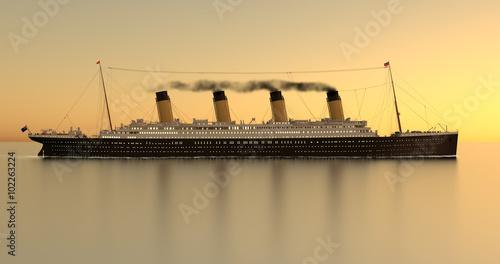 Canvas Print Titanic Sundown 4K Sideview FX