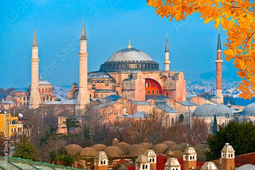 Wallpaper Mural Hagia Sophia mosque, Istanbul, Turkey.