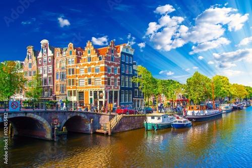 Fototapeta premium Amsterdam, Holandia