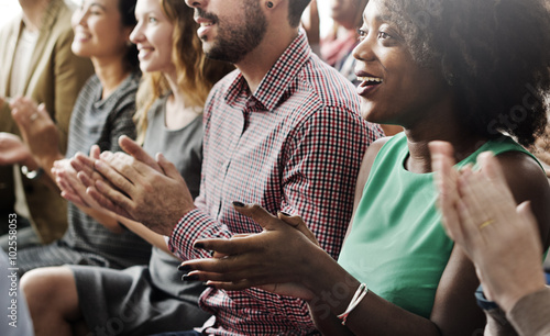 Canvas Print Audience Applaud Clapping Happines Appreciation Training Concept