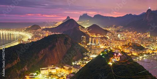 Wallpaper Mural Night view of Rio de Janeiro, Brazil