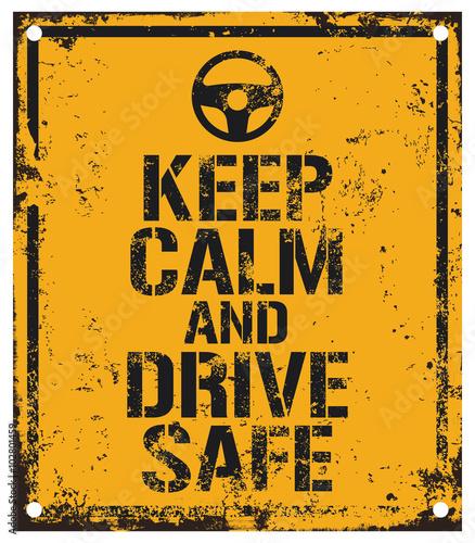 Canvas Print drive safe sign