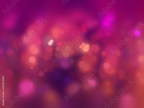 Valokuvatapetti Bokeh light, shimmering blur spot lights on pink abstract