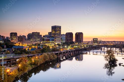Stampa su Tela Downtown Richmond, Virginia skyline