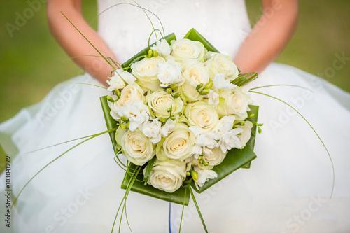 Obraz na plátně Bridal Bouquet isolated
