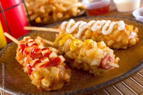 Korean Style Corn Dogs