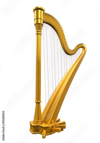 Canvas Print Golden Harp