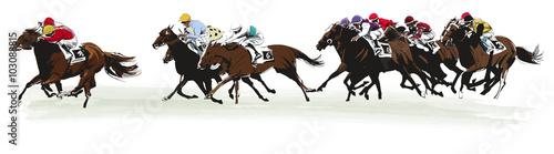 Valokuva Horse racing