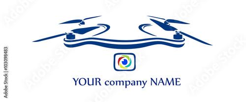 Cuadros en Lienzo drone multi rotor logo