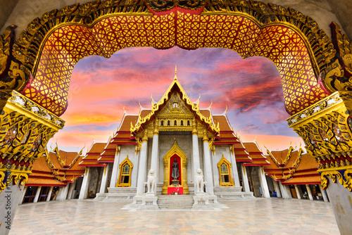 Canvas Print Marble Temple of Bangkok, Thailand.