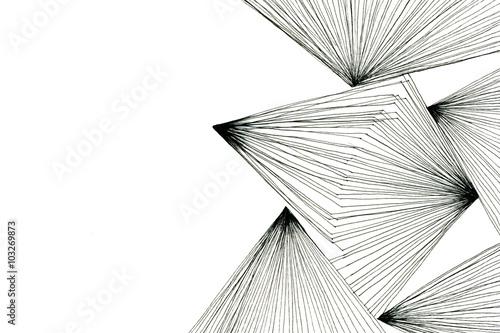 Plakat Czarnobiały abstrakcyjny rysunek