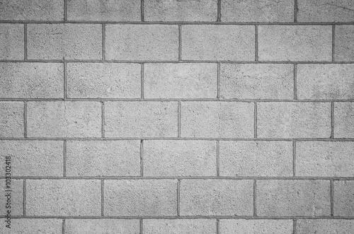 Concrete block wall seamless background and texture..