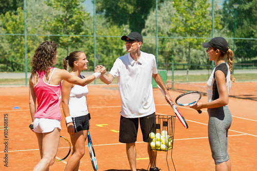 Canvas Print Popular tennis instructor