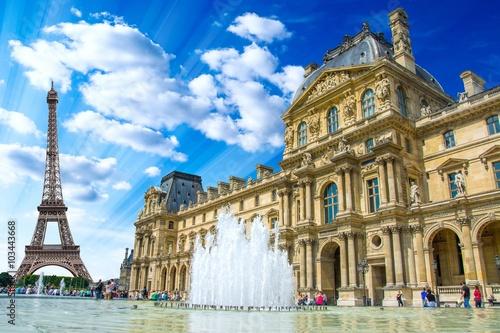 Canvas Print Le Louvre, Paris, France