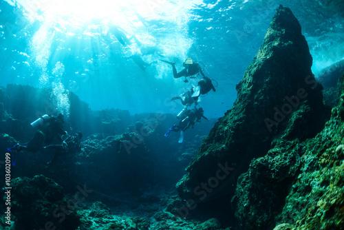 Okinawa Scuba Diving Fototapeta