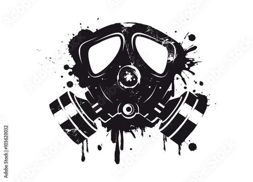 Obraz premium Graffiti maski gazowej