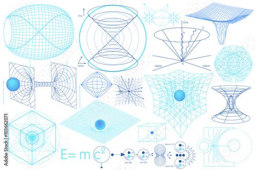 Canvas Print Science elements, symbols and schemes
