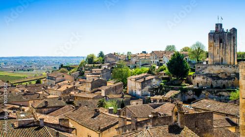Fotografie, Tablou panoramic view of Saint-Emilion near Bordeaux, France