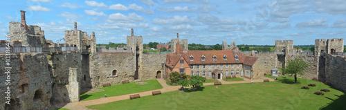 Photo Framlingham castle walls and poorhouse.