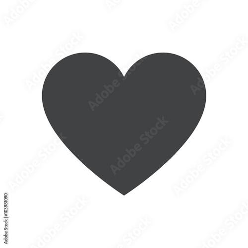 Heart icon, heart vector icon, heart icon illustration Fototapet