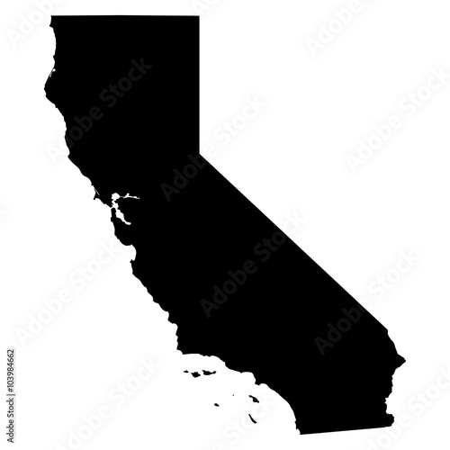 California map on white background vector Tapéta, Fotótapéta