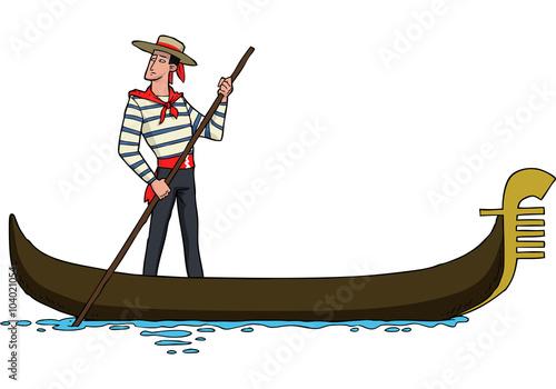Obraz na płótnie Gondolier on gondola