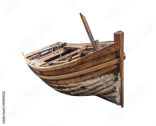 Carta da parati Old traditional wooden rowboat.