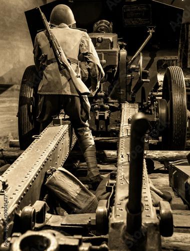 Fotografiet Reconstruction of the World War 2