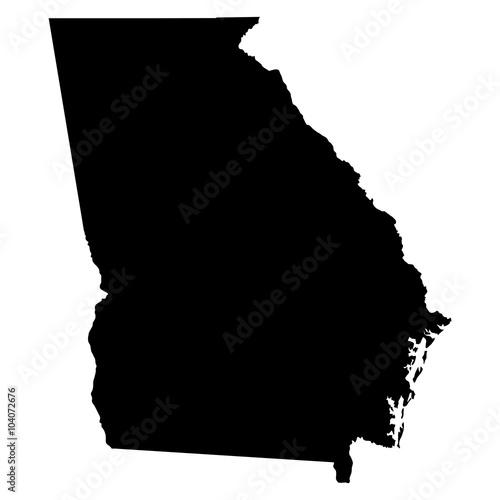Photo Georgia map on white background vector
