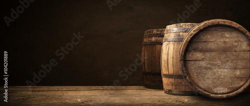 Photo background of barrel