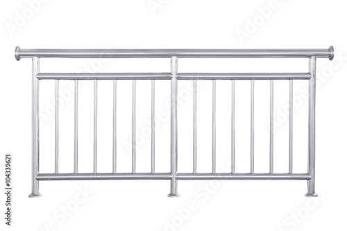 Canvas Print Stainless steel railing isolated.
