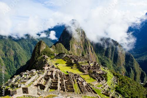 Misty clouds over Machu Picchu