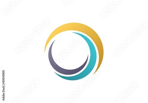 Fotografija circle sphere logo,global nature elements symbol icon vector design