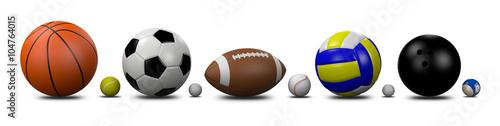 Cuadros en Lienzo Sports Balls Collection