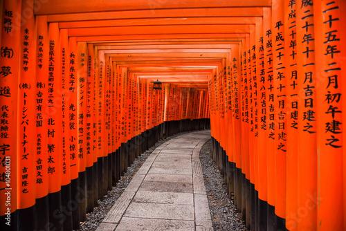 Wallpaper Mural Fushimi Inari shrine in Kyoto, Japan