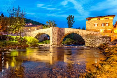 Stampa su Tela Zubiri, Puente de la Rabia, Spain