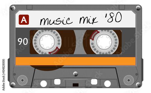 Fotografía Vintage transparent plastic audio cassette