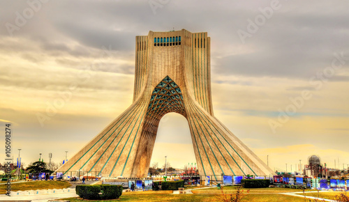 View of the Azadi Tower in Tehran