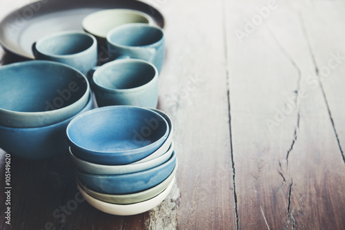 Handmade ceramic dishes Tapéta, Fotótapéta