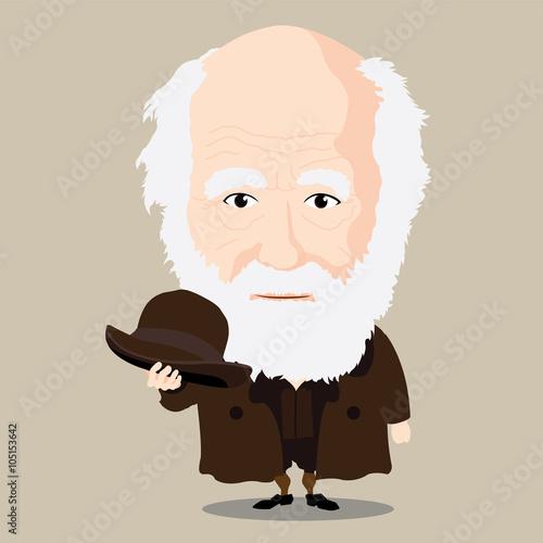 Canvastavla Vector illustration - Charles Darwin